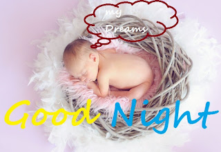 good night images with cute little girl