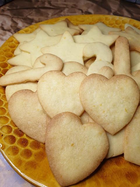 Mandarynkowe kruche ciasteczka