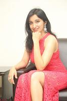 Sakshi Kakkar in Red Legsplit Sleeveless Gown at Dare movie Press meet ~  Exclusive 039.JPG
