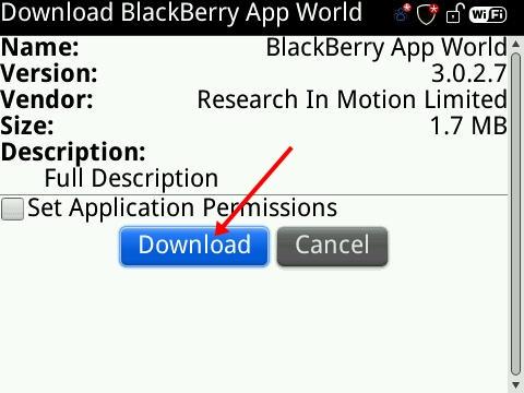 How to install the blackberry app world on an older blackberry.