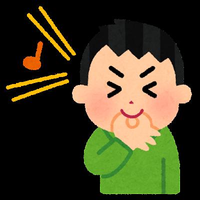 指笛のイラスト(男性)