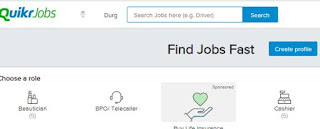 quikr.com job portal website logo