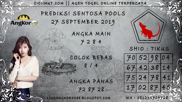 PREDIKSI SENTOSA POOLS 27 SEPTEMBER 2019