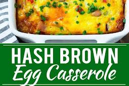The Best Hash Brown Egg Casserole #bestbreakfast #easybreakfast #eggs #casserole #whole30recipe