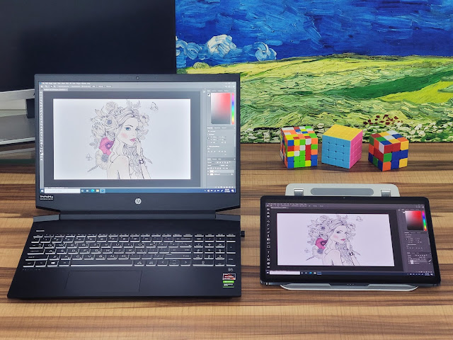 Let's use the Galaxy Tab as a wireless drawing tablet!  EasyCanvas Pro for Android has been released!