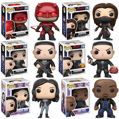 Daredevil Season 2 & Jessica Jones Pop! Marvel Vinyl Figures by Funko - Daredevil, Elektra, The Punisher, Jessica Jones & Luke Cage