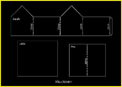 Gambar pola miniatur rumah dari kardus