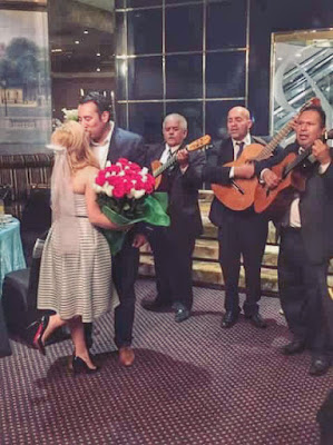 Parisian Breakfast at Tiffany's Bridal Shower - roses and serenade