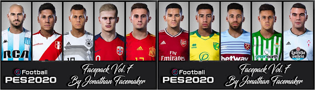 PES 2020 Facepack Vol. 7 By Jonathan Facemaker