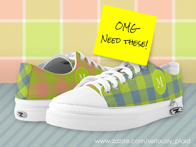 mismatched lime pink blue plaid low top sneakers