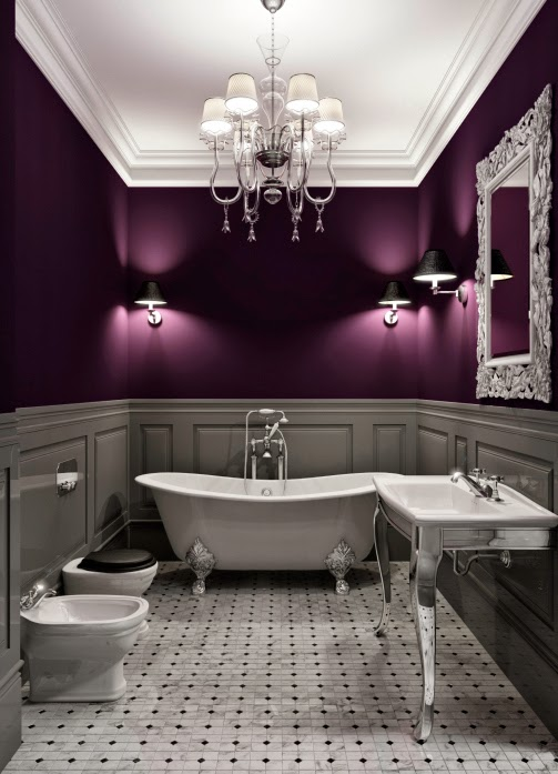 Banheiro roxo