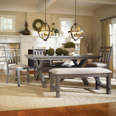 rustic style dining room