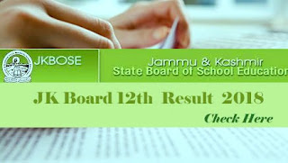 JKBOSE Result 2018, JKBOSE 12th Result 2018, JK Board 12th Result 2018