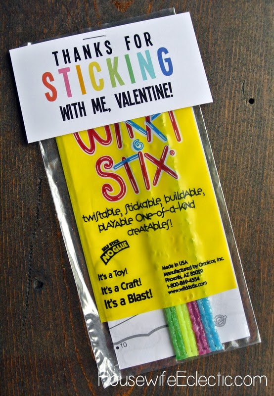 Free Printable Valentine Tag with 10+ Easy Gift Ideas - WikkiStix