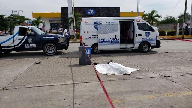 Menor perdió la vida al ser arrollado por un camión de carga en Cosamaloapan