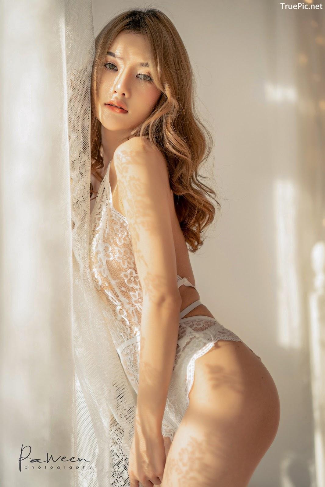 Image Thailand Model - Atittaya Chaiyasing - White Lace Lingerie - TruePic.net - Picture-14