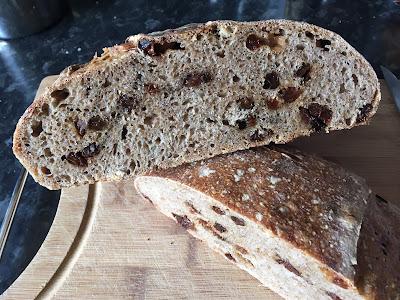 Fruit bread cross section