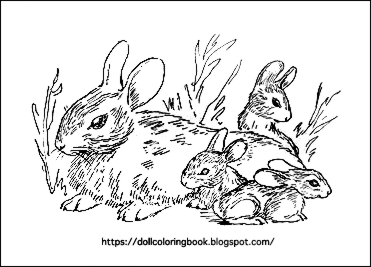 Cottontail Rabbits | The Doll Coloring Book