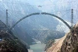 World Tallest Railway Arch Bridge Built in Jammu and Kashmir