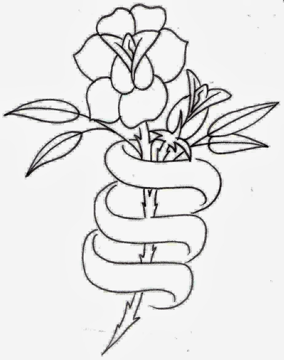 Tattoo Outlines Banner: Tattoos Book: +2510 FREE Printable Tattoo Stencils: Rose