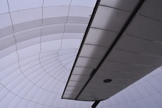 Underside detail view of port side wing, Solar Impulse 2