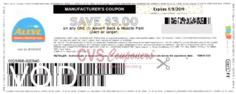 $3.00/1 Aleve Back & Muscle Pain COUPON