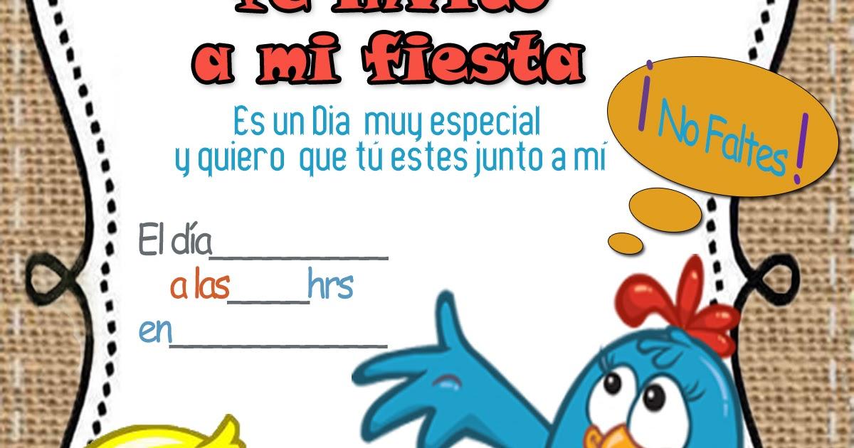 Invitaciones De La Gallina Pintadita Para Editar Gratis