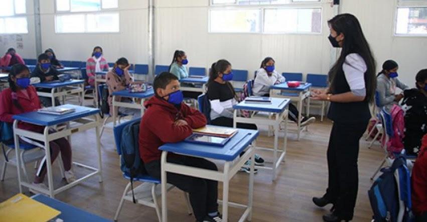 MINEDU: 4657 colegios brindan clases semipresenciales en el segundo semestre