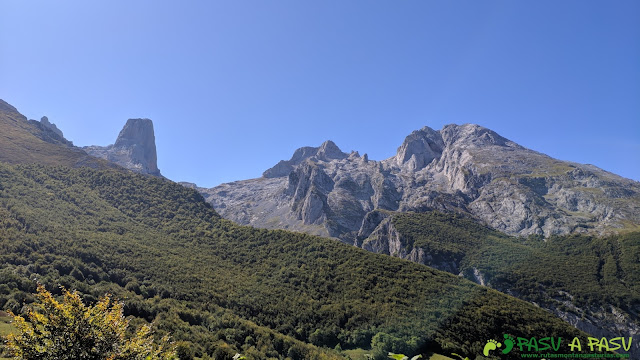 Picu Urriellu desde la subida a Pandébano desde Bulnes
