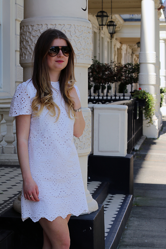 zara white dress fashion bloggeres