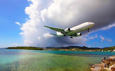 photography, roatan international airport, roatan, bay islands, caribbean sea,
