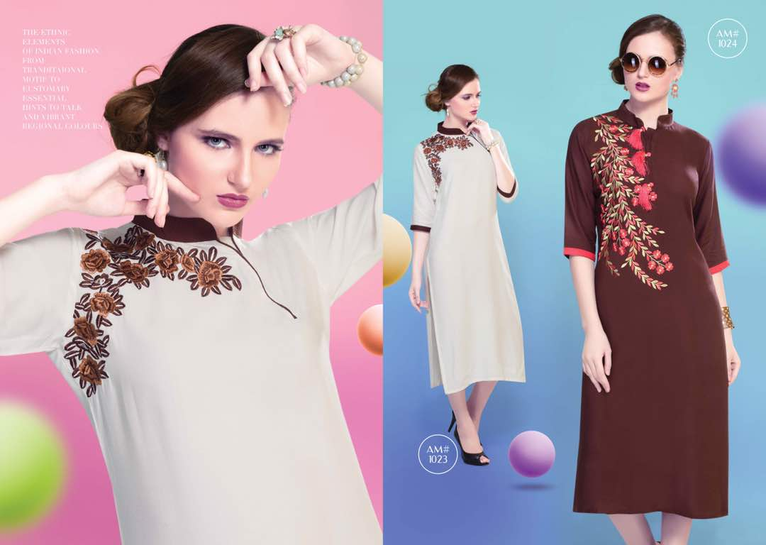 Karma Vol 3 – Rayon Embroidery Stylish Kurti