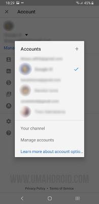 Tidak Bisa Sign Out YouTube di Android