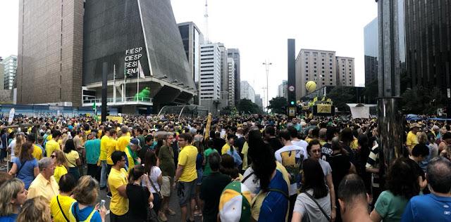 Av. Paulista, pessoas da manifestação