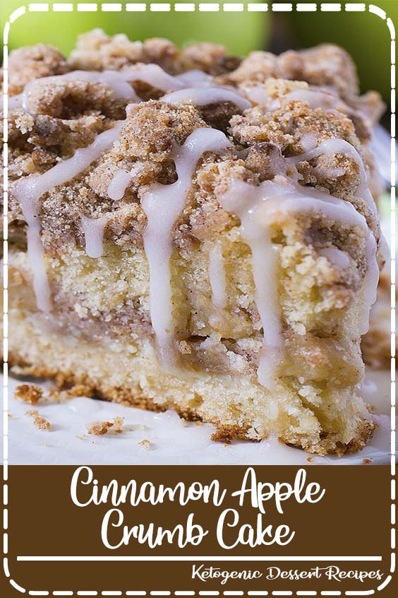 Cinnamon Apple Crumb Cake is the perfect dessert for crisp weather coming up Cinnamon Apple Crumb Cake