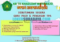 Open Experience at KB TK Khadijah Wonorejo Surabaya Terbaru Juli 2019