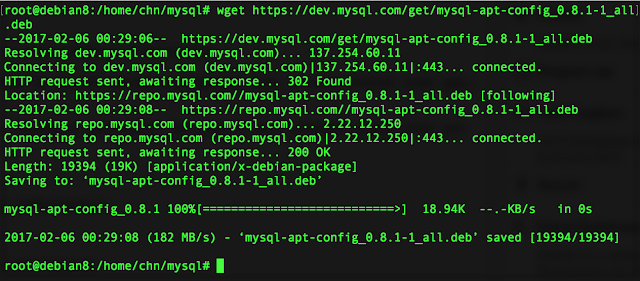 sudo wget https://dev.mysql.com/get/mysql-apt-config_0.8.1-1_all.deb