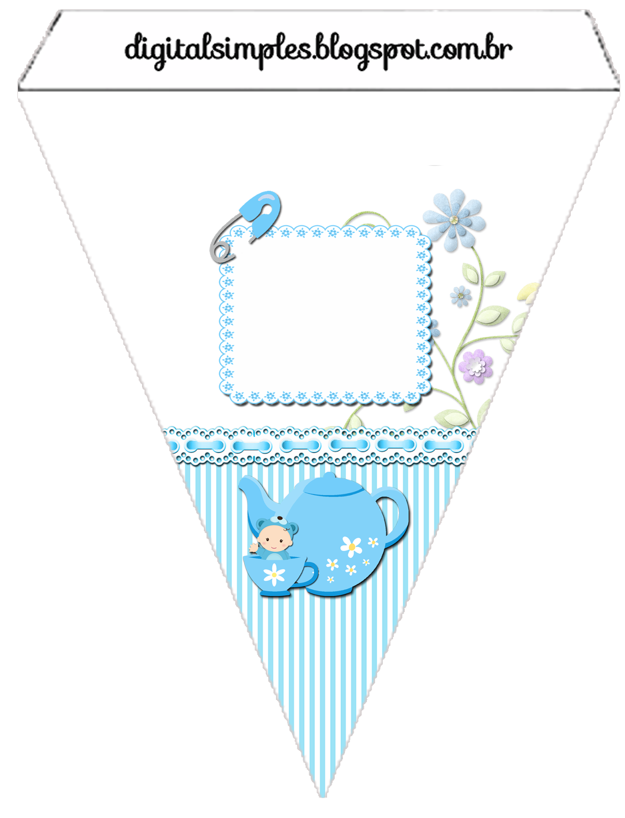 Baby Boy in Blue Free Printable Mini Kit. | Oh My Baby!