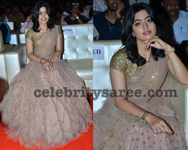 Rashmika Mandanna Half Saree