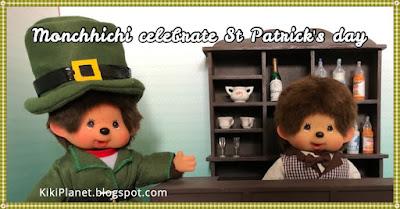 kiki monchhichi leprechaun saint Patrick vert trèfle bière festival irish irlandais