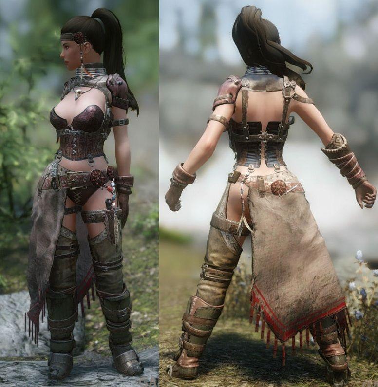 Wild Hunter Outfit [CBBE/CBS/HDT Cloth] ~ Eskyrim