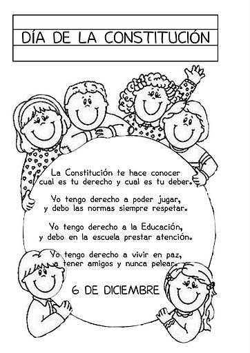Dibujos para colorear de la constitución española