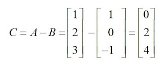 diferença da matriz a e b exemplo b2