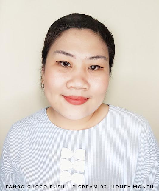 Review Fanbo Choco Rush Lip Cream 03. Honey Month