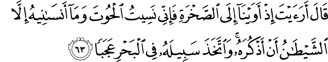 Surat Al Kahfi Ayat 63