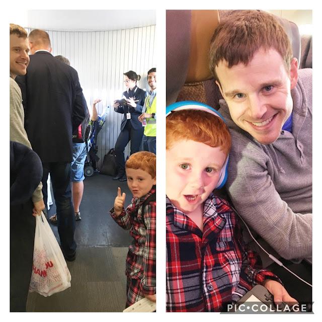 Trans Atlantic flight with kids