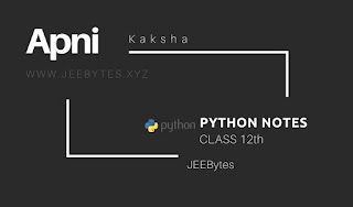 Class 12 PYTHON Notes By Aman Dhattarwal[PDF]