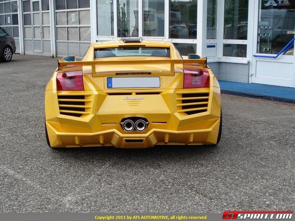 Sports Car Lamborghini Gallardo Galaxy Yellow Body Kit Overkill