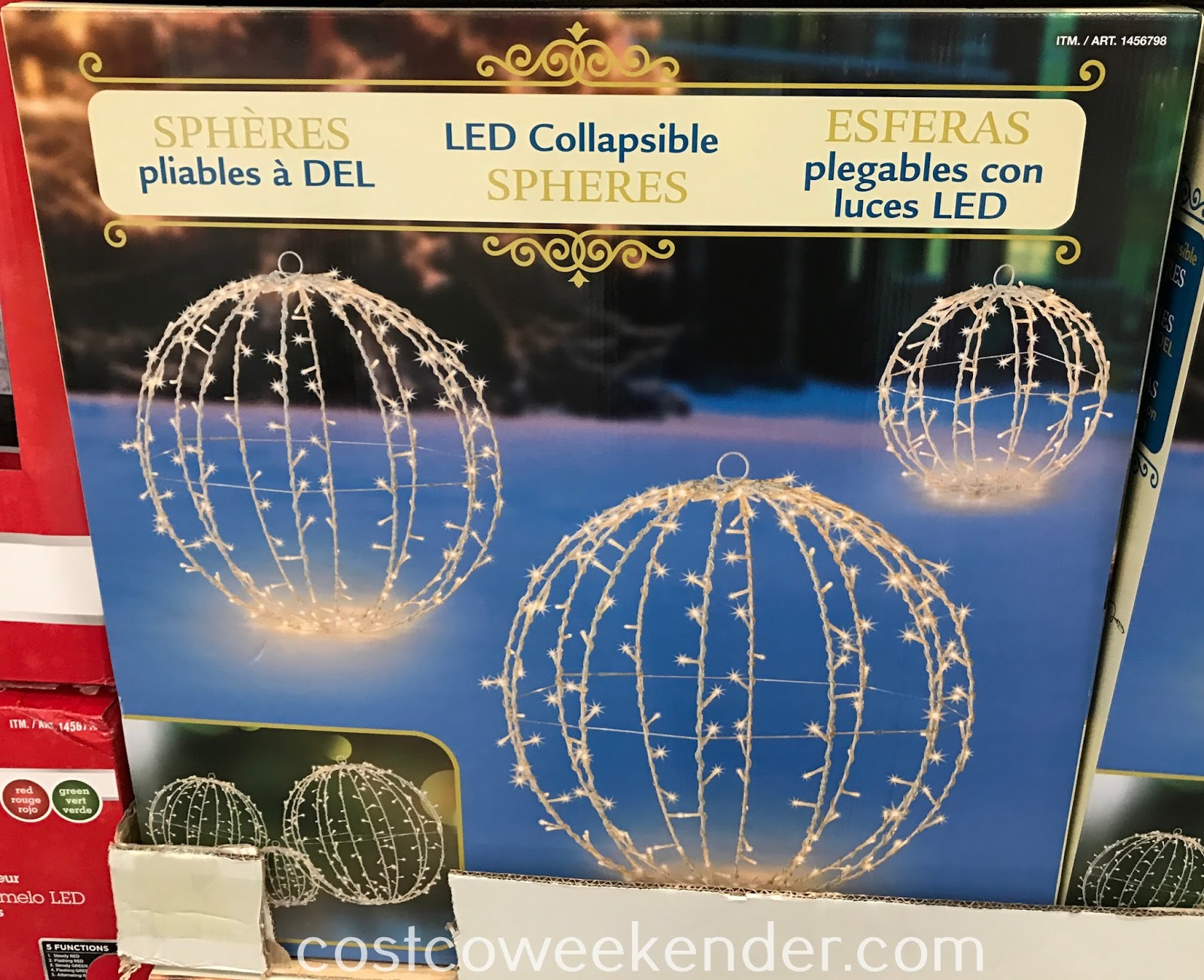 Get into the Christmas spirit and decorate with the LED Collapsible Spheres
