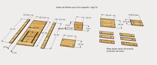 Diseño piezas de madera del torno